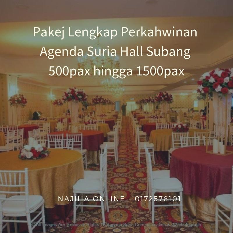 Pakej-Lengkap-Perkahwinan-Agenda-Suria-Hall-Subang-500pax-hingga-1500pax